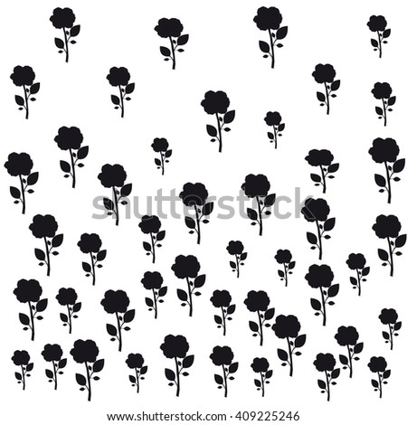 texture of black roses white background