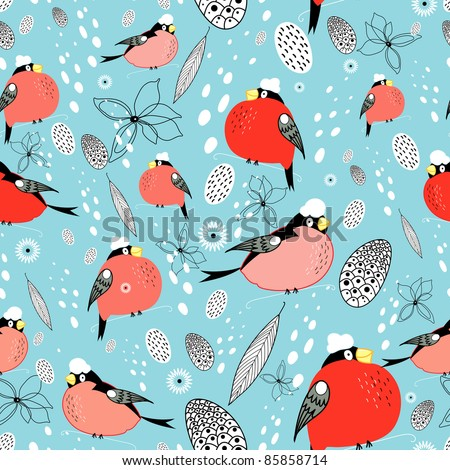 texture of bullfinches - stock vector