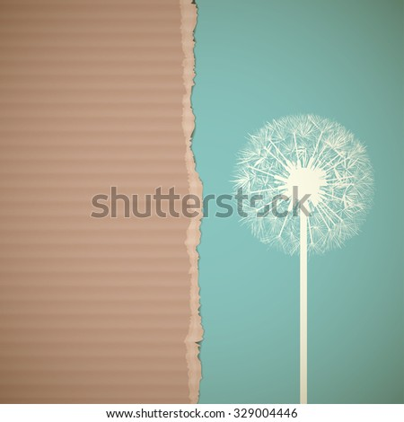 Texture of cardboard. Recycling. Stock vector illustration. - stock vector