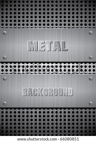 Texture of Metal - stock vector