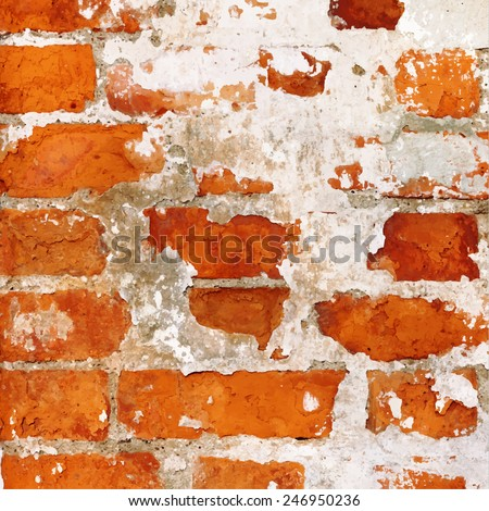 Texture of the abstract old brick wall - stock vector