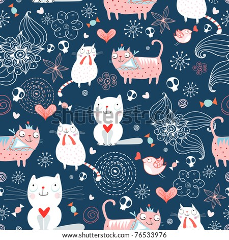 texture of the cats - stock vector