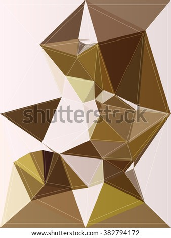 texture shape element color origami vector illustration