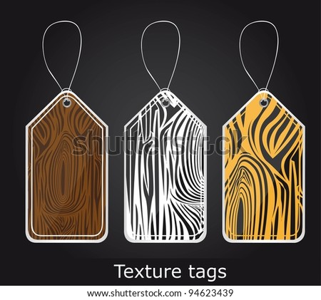 texture  tags over black background. vector illustration - stock vector