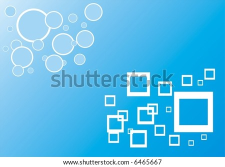 Texture with circles and squares - stock vector