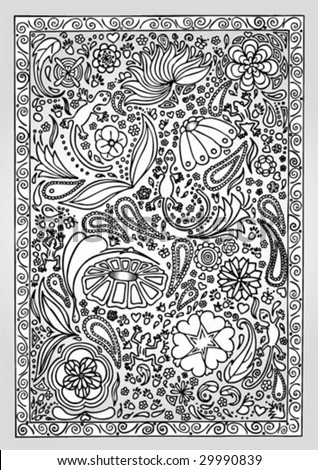 texture with lovely ornaments - stock vector