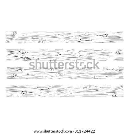 Texture wooden boards. The pattern of lines and swirls like a real tree. Vector illustration. - stock vector