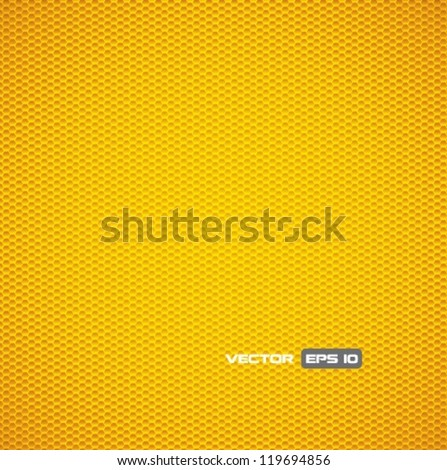 Texture - yellow metal grid - stock vector