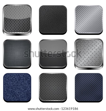 Textured apps - stock vector