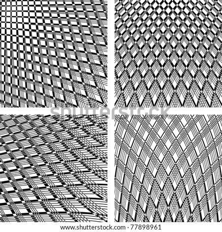 Textured backgrounds. Patterns set. Vector art. - stock vector
