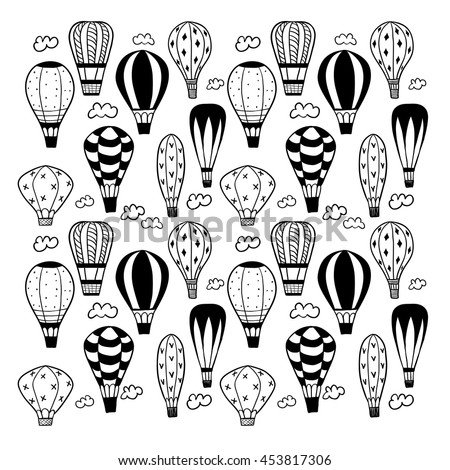 Textured doodle balloons.