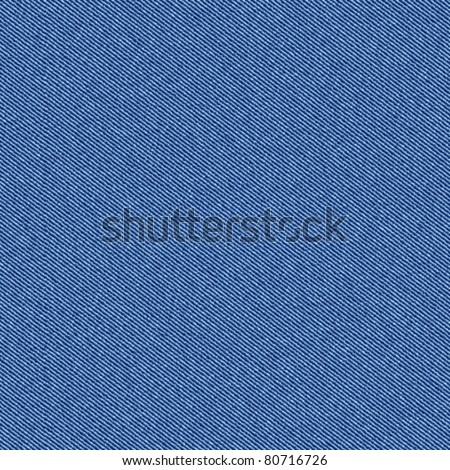 Textured striped blue jeans denim linen fabric background. Seamless pattern. Vector. - stock vector
