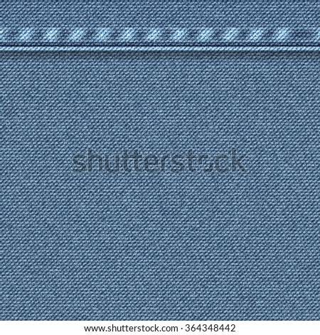 Textured striped blue jeans denim. Seamless pattern. Vector. - stock vector