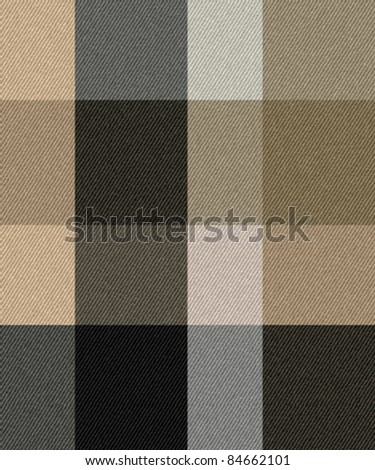 Textured striped linen soft touch check fabric background. Design is seamless. Vector. - stock vector