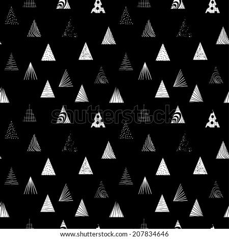 Textured triangles seamless pattern. - stock vector