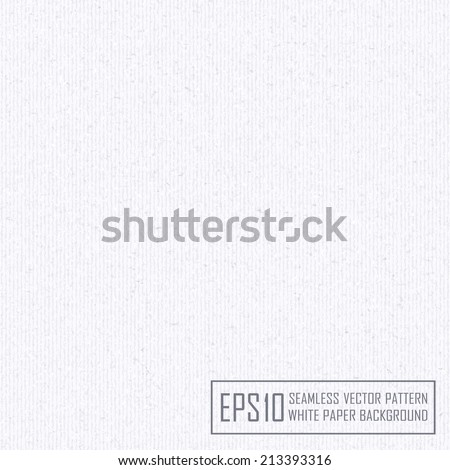 Textured  white paper with natural fiber parts. Seamless pattern. - stock vector