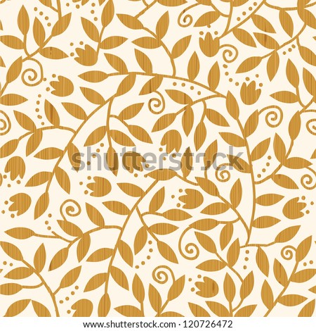 Textured Wooden Branches Seamless Pattern Background - stock vector