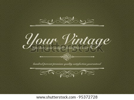 Texturized vintage background with ornament - stock vector