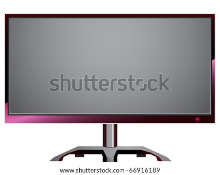 TFT Monitor Gamer Series - stock vector