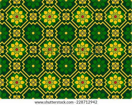 Thai art pattern - stock vector