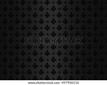 Thai art pattern abstract background vector