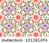 Thai art wall pattern illustrations - stock photo