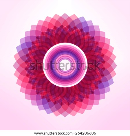 Thai flower modern art traditional, Line Thai traditional art pattern background, Vector  illustrator - stock vector