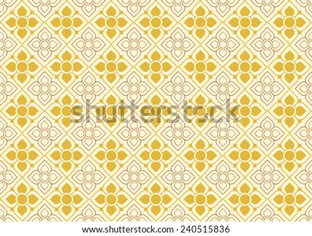 Thai graphic pattern wall textures - stock vector