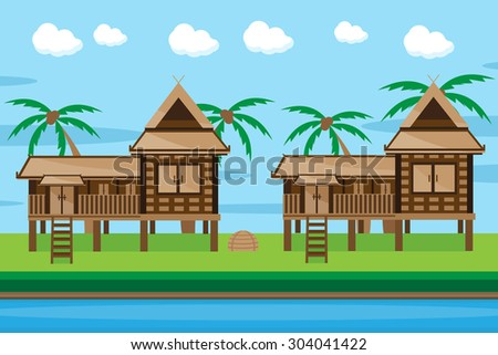 Stock photos royalty free images vectors shutterstock for Free thai house plans