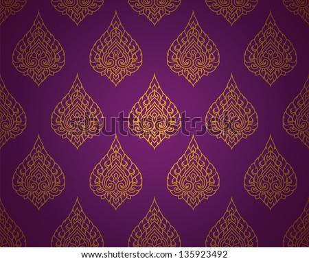 Thai traditional art. Thai Art Background, Thai art pattern, Vector. - stock vector