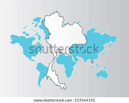 Thailand map on world map backgroundmap stock photo photo vector thailand map on world map backgroundmap vectorthailand map vector gumiabroncs Choice Image