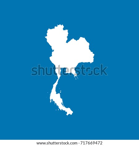 United kingdom map white blank world vectores en stock 711445747 thailand map white blank world map gumiabroncs Images