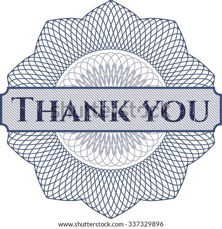 Thank you abstract rosette - stock vector