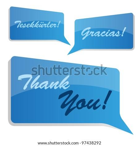 Thank you bubbles. - stock vector