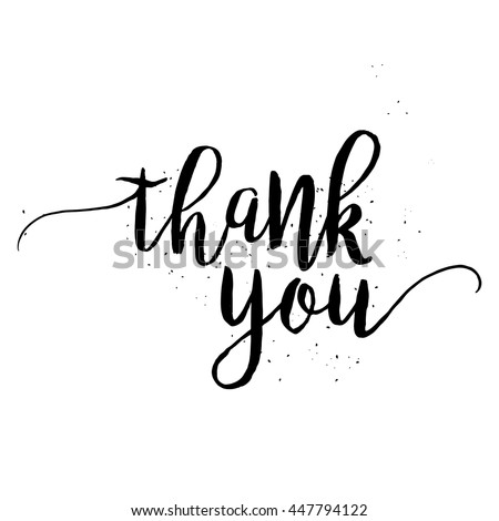 Thank You calligraphy sign. Brush painted letters. Gratitude vector illustration. - stock vector