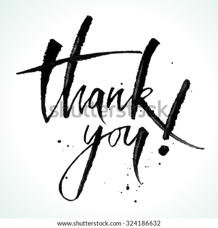 Thank You calligraphy. Vector illustration. - stock vector