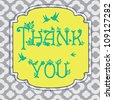 thank you card design. vector illustration - stock vector