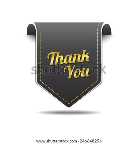Thank You golden Vector Icon Design - stock vector