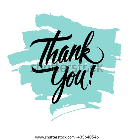 Thank You handwritten inscription with brush stroke. Hand drawn lettering. Thank You calligraphy. Vector illustration. - stock vector