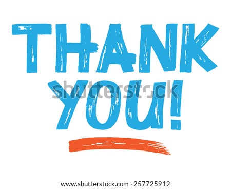 Thank you Lettering - stock vector