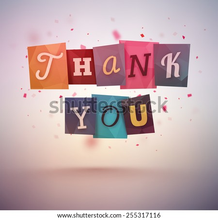 Thank you message, eps 10 - stock vector