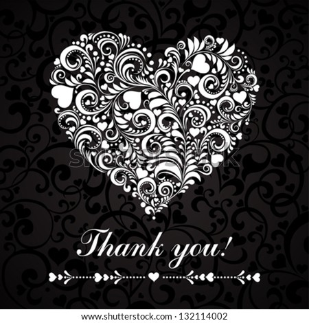 Thank you message.  Vector illustration. - stock vector