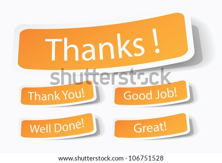 thank you thanks note sticker customer ベクター画像素材 106751528