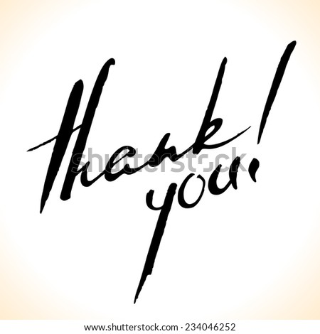 Thank You pen calligraphy. Hand lettering vector illustration. - stock vector