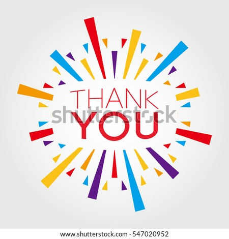 thank you poster banner greeting template stock vector 547020952