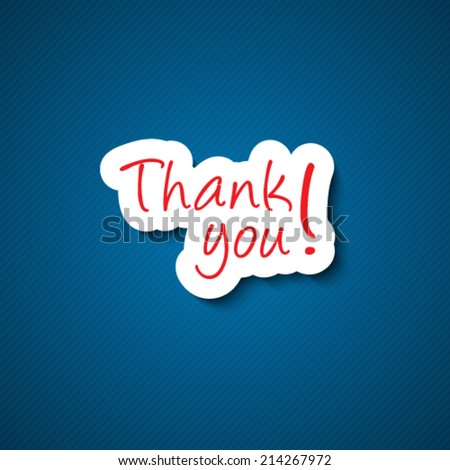 Thank you sign  - stock vector