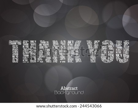 Thank You Typography. - stock vector