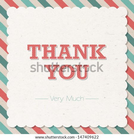 Thank You Vector Card - stock vector