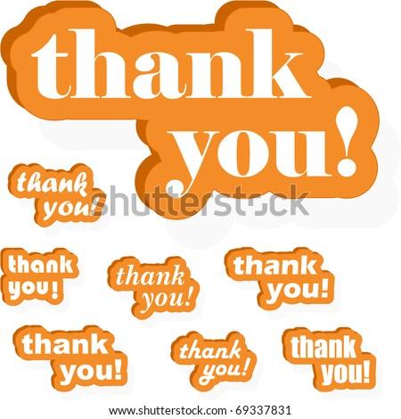 THANK YOU! Vector collection. - stock vector