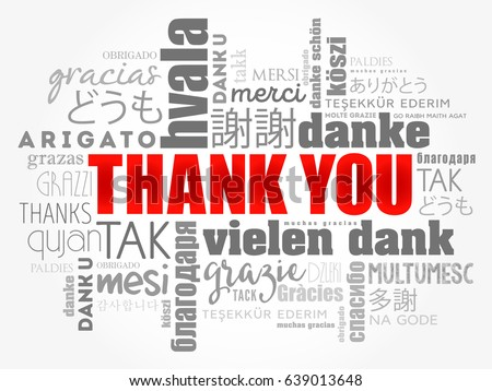 thank you word cloud different languages stock vector 639013648 rh shutterstock com Thank You in Different Languages Clip Art Black and White Thank You in Different Languages